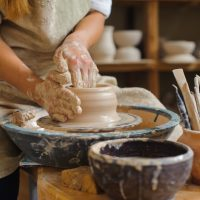 Continuing Clay – Wheel work