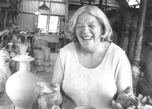 Yvonne Rust in her studio