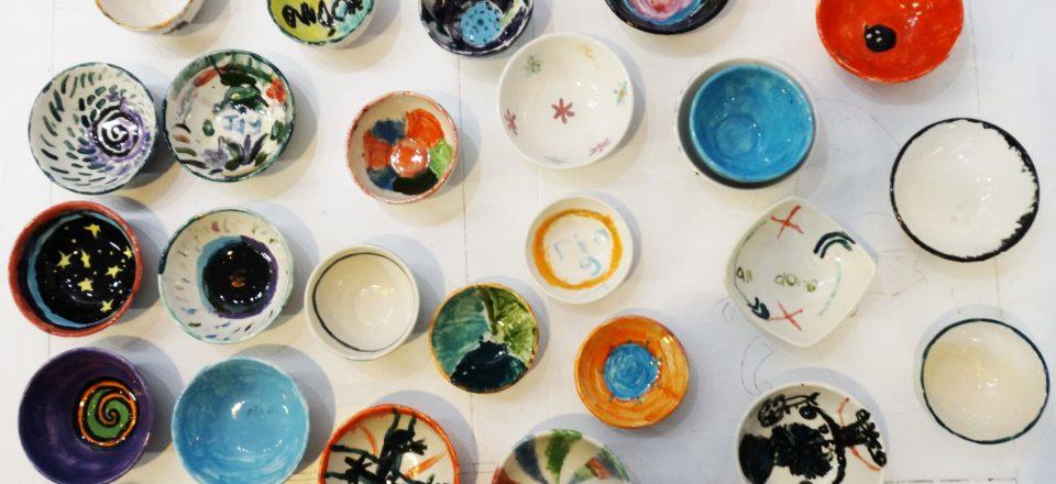 Kids Pot Glazing - The Quarry Arts Centre