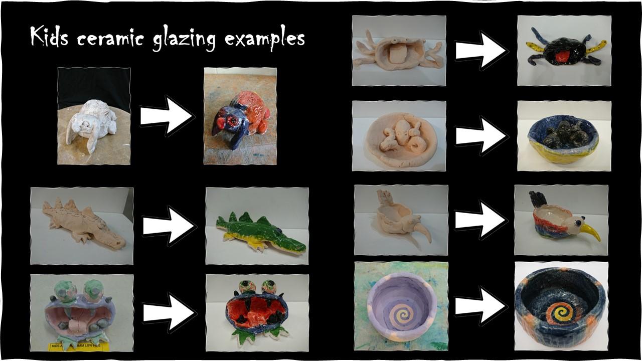 Ceramic glazing examples